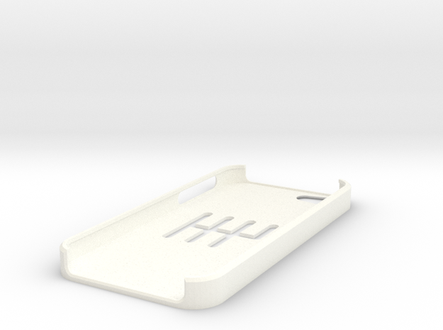 I-Phone 5 6-speed MT slotted case in White Processed Versatile Plastic