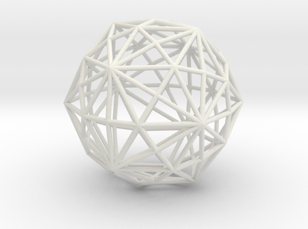 DisdyakisTriacontahedron 70mm in White Natural Versatile Plastic