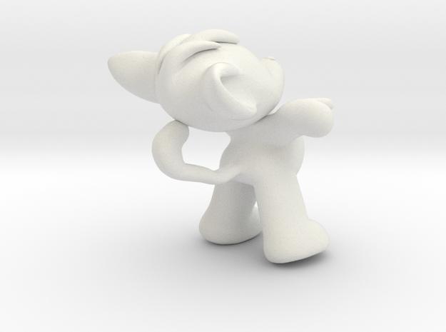 Fafa the mouse in White Natural Versatile Plastic