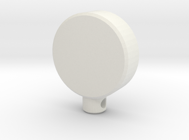 Power Icon Pendant in White Natural Versatile Plastic