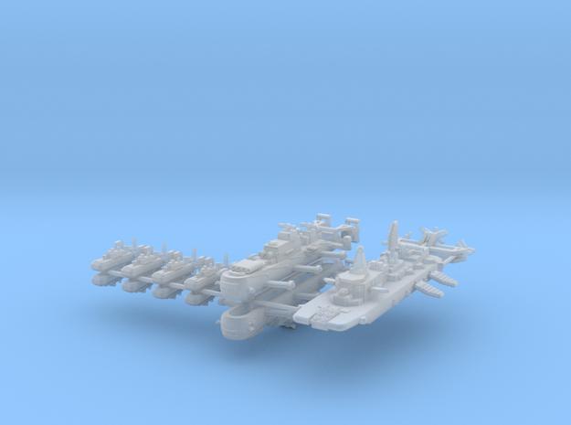 Triple Empire Fleet 1:600 (11 Ships) 3d printed