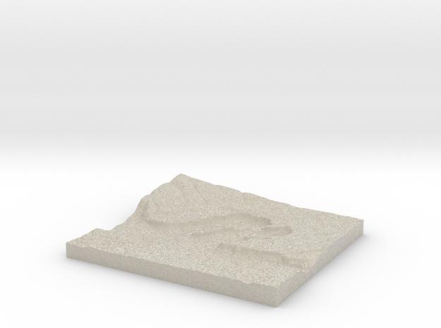 Model of Dry Falls Junction 3d printed