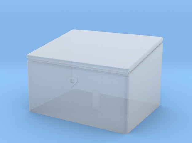 1/87th scale deck type toolbox in Smooth Fine Detail Plastic