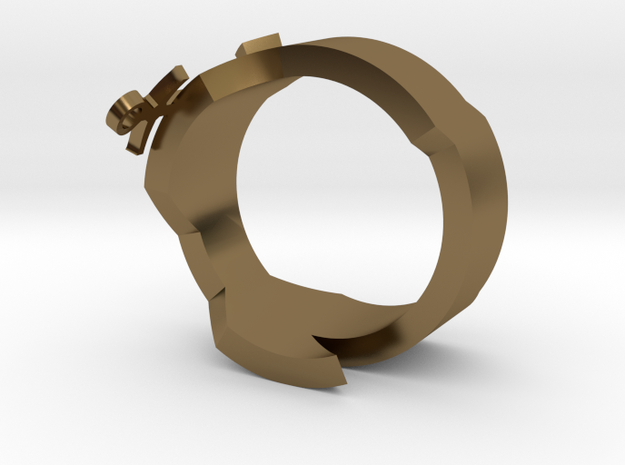 DG Ring two in Polished Bronze