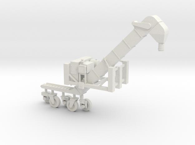 S scale1/64 Conveyor Unloader (Transloader) in White Natural Versatile Plastic
