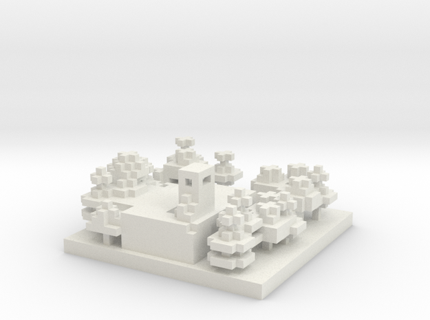 30x30 Refinery (1mm series) 3d printed