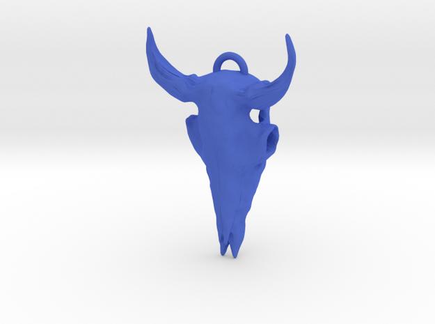Bison Skull Pendant 3d printed