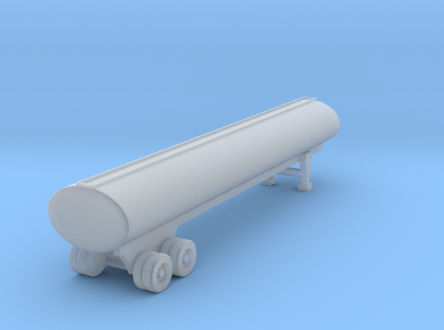 40 Foot Tank Trailer - 1:144 scale in Smooth Fine Detail Plastic