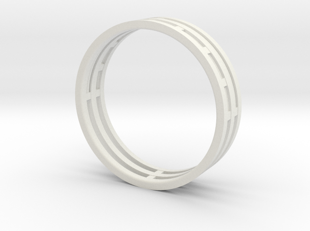 Nice modern ring : symmetrie at work in White Natural Versatile Plastic