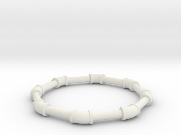 0 5 ell 45 in White Natural Versatile Plastic