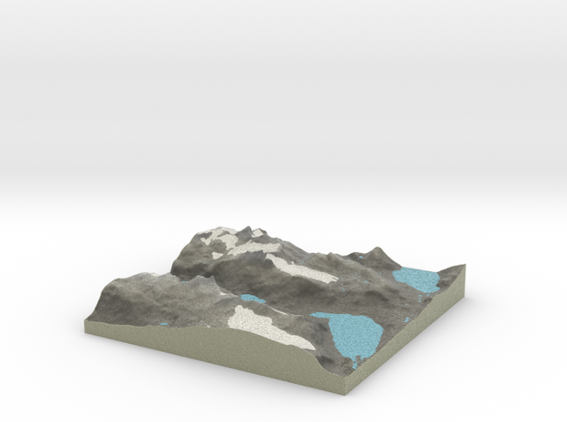 Terrafab generated model Wed Aug 13 2014 15:06:03  in Full Color Sandstone