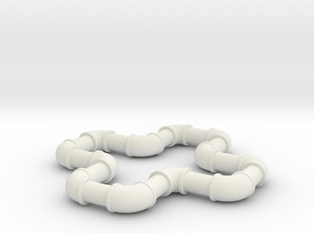 2  ell 90 in White Natural Versatile Plastic