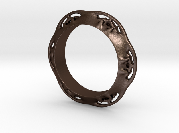 Flower Ring (Size: 7.5) 3d printed