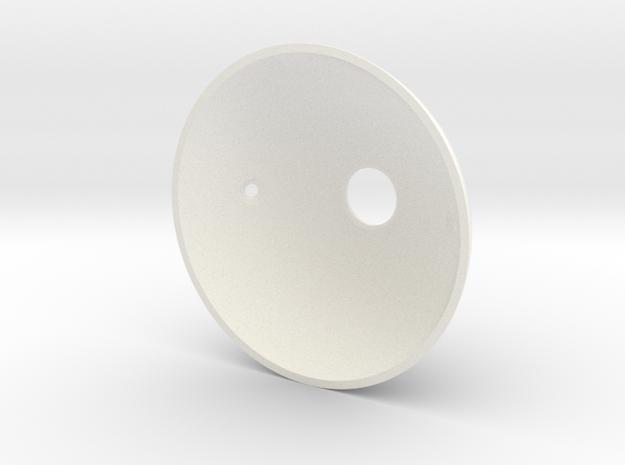 Goldeneye Pinball Satellite Dish - Repro in White Processed Versatile Plastic