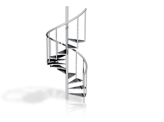 """1:24 Spiral Stair 30"""" 3d printed"""