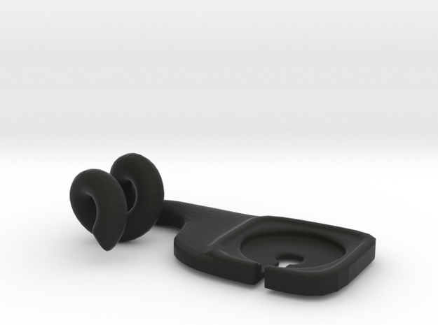 Phone Hanger in Black Natural Versatile Plastic