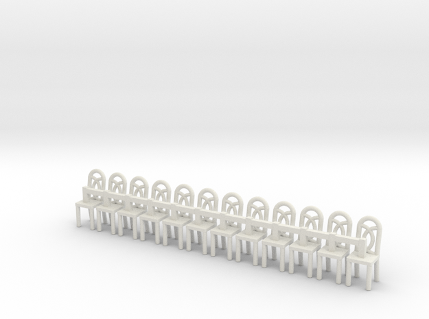 Cafe Chair 1 HO Scale X12 3d printed