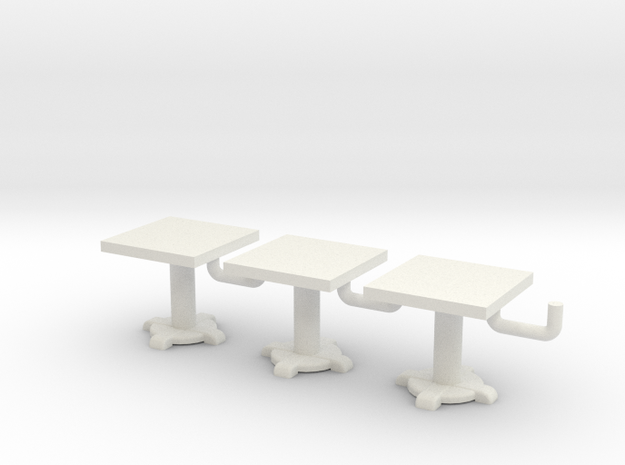 Square Tables HO Scale X3