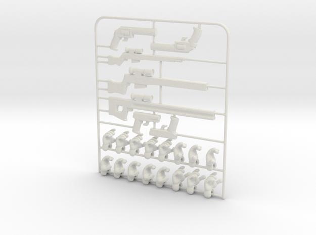 Ersatz MkII Weapons in White Natural Versatile Plastic