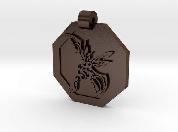 Scyther Pendant (engraved on reverse) 3d printed