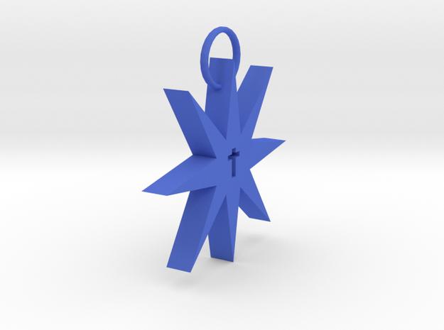 Heritage Keychain in Blue Processed Versatile Plastic
