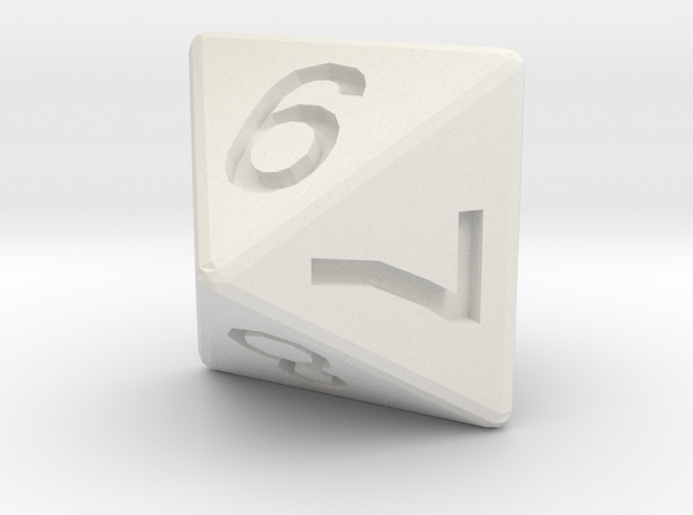 D8 pendant in White Natural Versatile Plastic