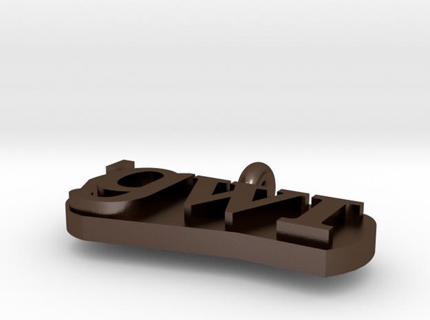 Metal Lingustics Necklacs Part 2 3d printed