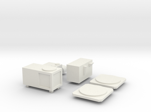 US102 - Airco Rooftop Parts set (H0) in White Strong & Flexible