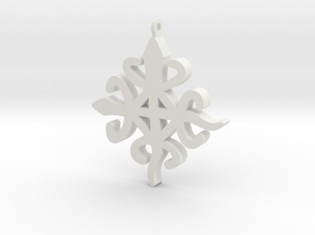 FUNTUNFUNEFU-DENKYEMFUNEFU in White Natural Versatile Plastic