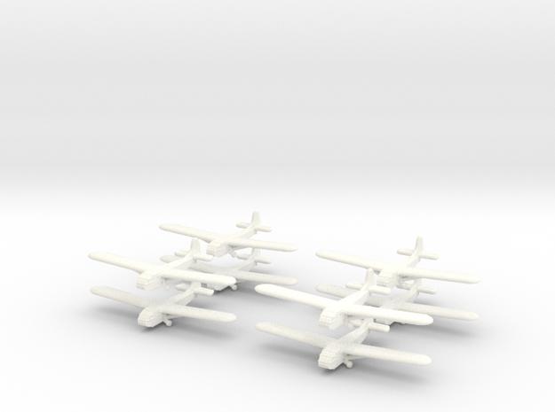Waco Glider -GW39- (x8) in White Processed Versatile Plastic