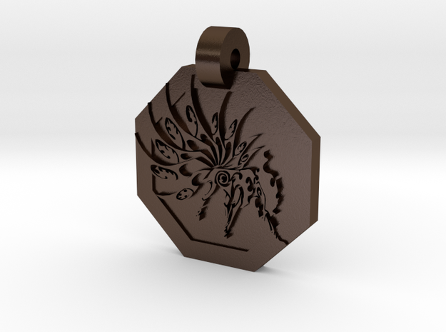 Ninetails Pendant 3d printed