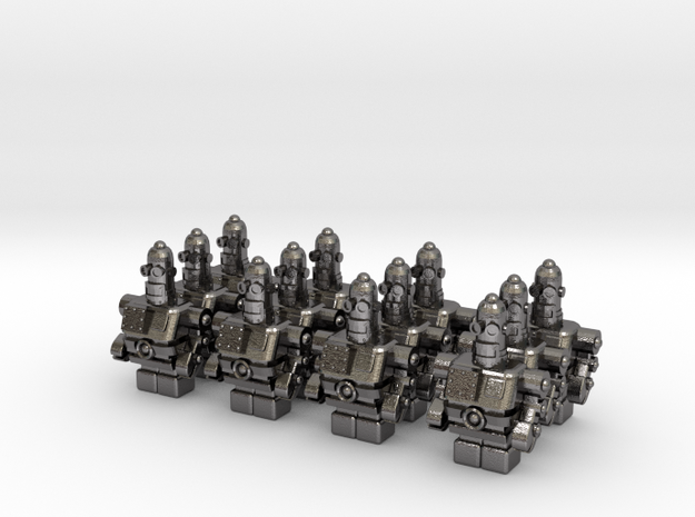 USB Robot's Army 3d printed