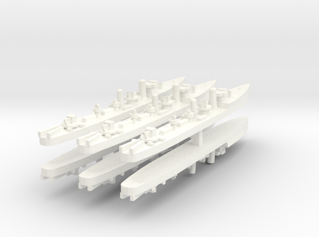 Admiralty S Destroyer (Std) 1:1800 x6 in White Processed Versatile Plastic