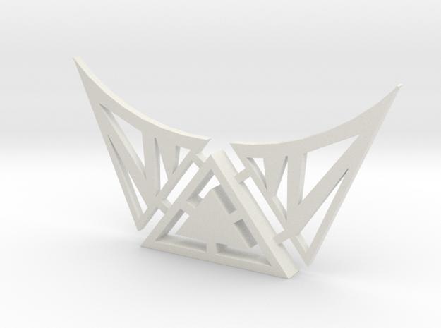 Celtic Necklace in White Natural Versatile Plastic