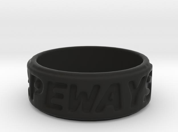 shapeways ring 3d printed
