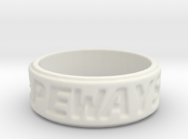 shapeways ring in White Strong & Flexible