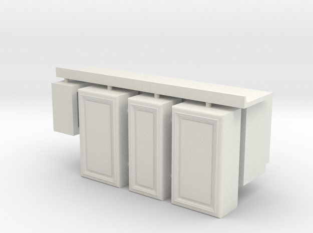 1:24 Kitchen Cabinet Kit in White Natural Versatile Plastic