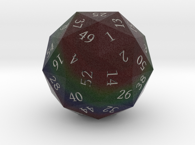 Dark Rainbow d60 3d printed
