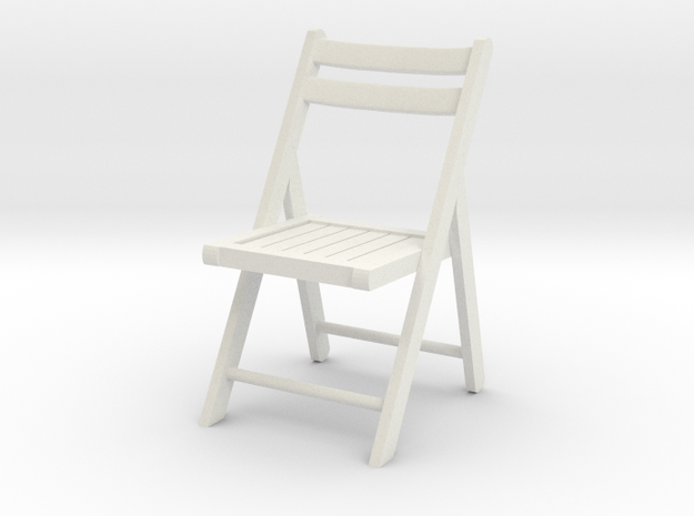 1:24 Wood Folding Chair (Not Full Size)