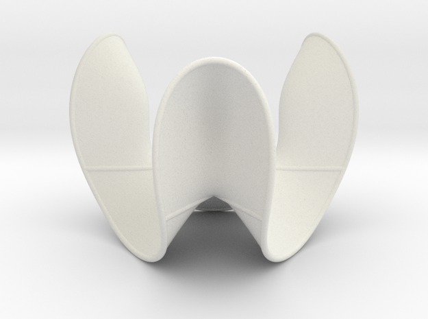 Cubic Surface KM 10 in White Natural Versatile Plastic