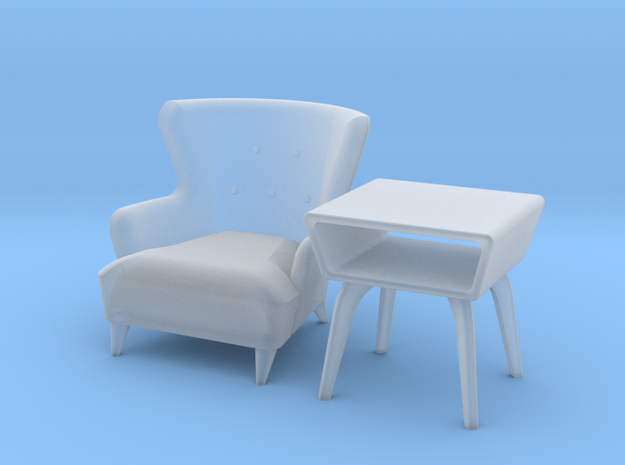 1:48 Wingback Chair Set 3d printed