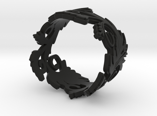 Blossom ring in plastic 3d printed