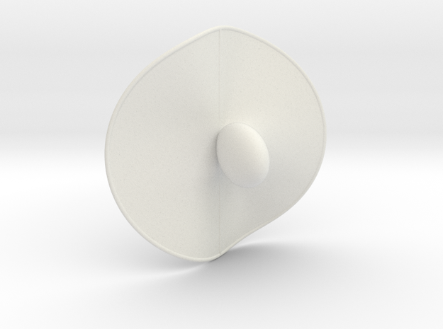 Cubic Surface KM 45 in White Natural Versatile Plastic