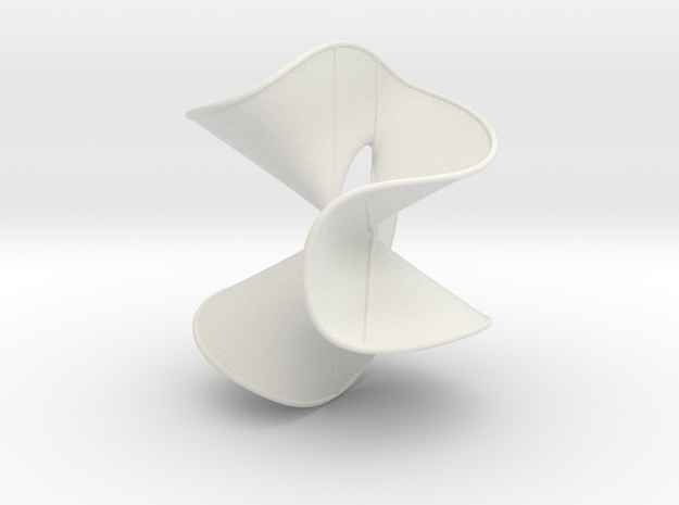 Cubic Surface KM 26 in White Natural Versatile Plastic