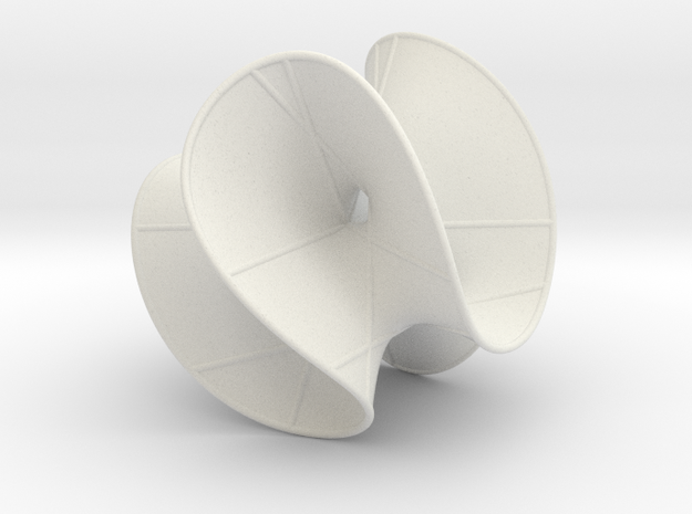 Cubic Surface KM 23 in White Natural Versatile Plastic