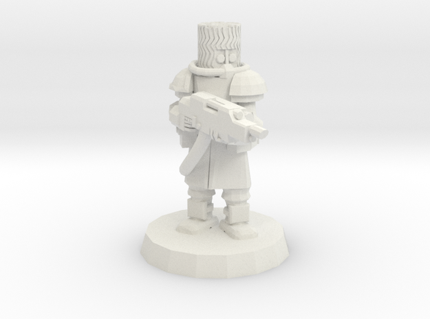 Cossack Trooper with Inferno Riffle in White Natural Versatile Plastic