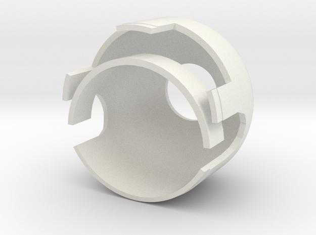 Aeronca Hub with larger brace in White Natural Versatile Plastic