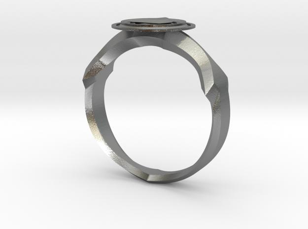 Christian Navigator Ring 2 in Natural Silver
