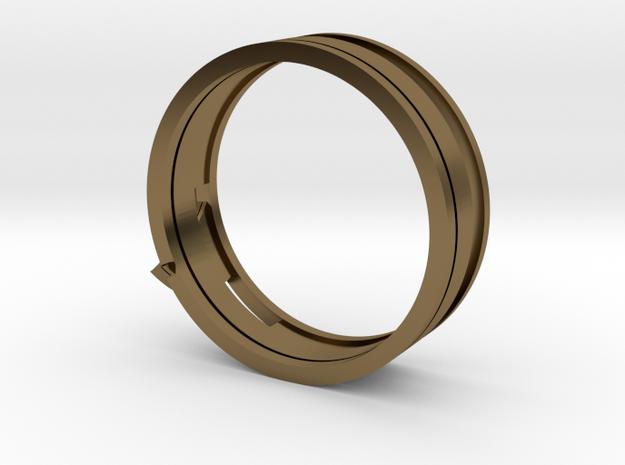Christian Navigator Ring 4 in Polished Bronze