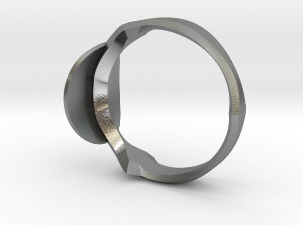 Christian Navigator Ring in Natural Silver